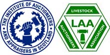 IAAS and LAA logos\A livestock auction