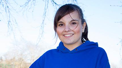 Student Ceri running to support eating disorders charity