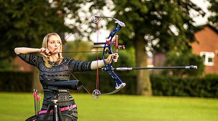Gold medal-winning archer inspires university audience