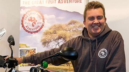 Alumnus to motorcycle from London to Cape Town to raise awareness of fresh produce