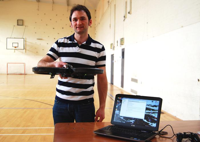 Marc-Alexandre with his prototype