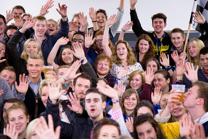 Ed Sheeran was hidden in a group of students for a fun challenge posted on the BBC Radio 1 website