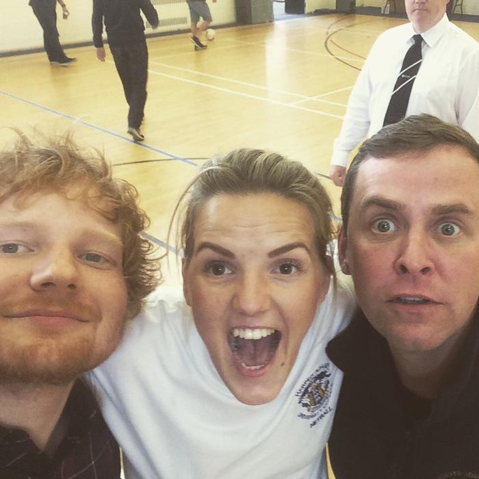 Student Lizzie Spray with Ed and Scott