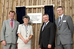 Professor Wynne Jones, Chairman of the Board of Governors Alison Blackburn, Tim Bennett and Dr David Llewellyn