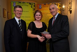 Principal, Dr David Llewellyn, Niamh and Editor of the Irish Farmers' Journal, Matthew Dempsey