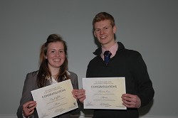 Mercer scholars Fay Griffiths and Thomas Carr