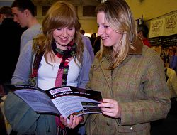 Students have a look at what's on offer at the Fair (More photographs from the event below).