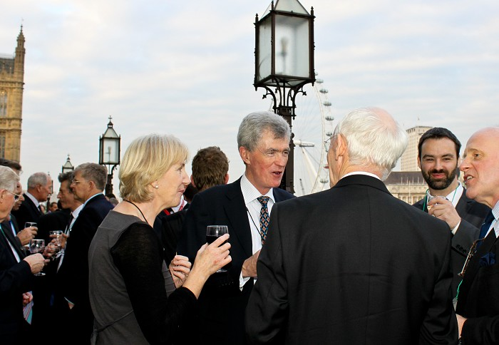 Guests on the terrace at the House of Commons