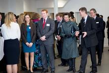 HRH The Princess Royal meets staff and students at a reception on campus
