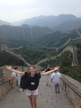 Emma Eastwick walking the Great Wall of China
