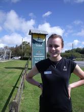 Stephanie Bayford on placement at Darts Farm