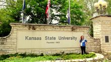 Stephanie spent six months at Kansas State University