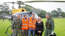 Jonathan Gill, Peter Hlinka and Debbie Heeks with pilot and co-pilot