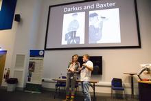Maya Leonard and Professor Simon Leather