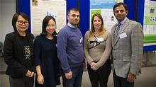 Postgraduate students including organisers Emily Forbes and Usama Tayyab (right)