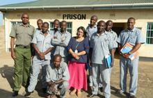 Carrie de Silva with some of her students in Kenya