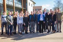 Staff and students from HAS visited Harper Adams this week