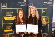 Amy Wickham with fellow Lord Leverhulme Charitable Trust scholar Clarrie Hocknell