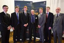 Henry with the other Douglas Bomford Trust scholars and representatives Professor Paul Miller and David White