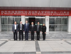 The Principal, Professor Brian Revell and members of staff at Beijing Agricultural University