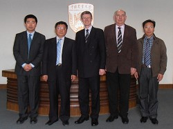 The Principal with Professor Wang Tao (second from left), Vice President for International Affairs at China Agricultural University