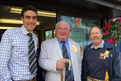 Bertie Hancock, Dai Jones MBE and Richard Jopling