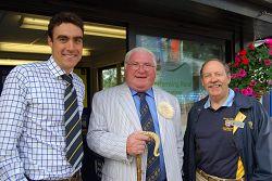 Bertie Hancock, Dai Jones MBE and Richard Jopling