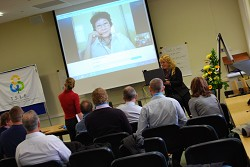 Delegates enjoyed an international Skype call