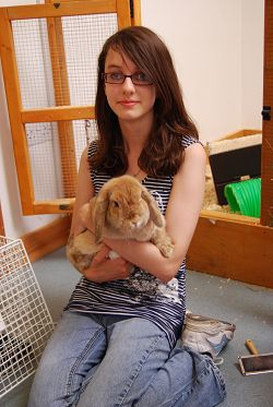 Emma White, 15, spent her work experience at the Companion Animal House.