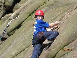 Efa Jones during the climbing exercise