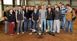Students with their robots