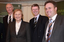 L-R Professor Simon Blackmore, Baroness Byford, Dr David Llewellyn and Julian Sturdy MP