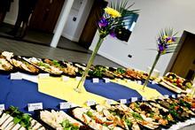 Buffet spread in Exhibition Hall