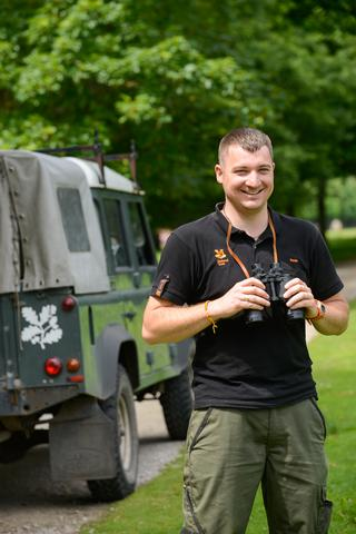 Colin Gorner working at the National Trust