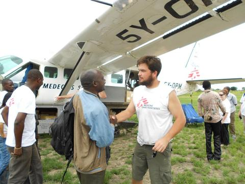 Haydn working for MSF in Africa