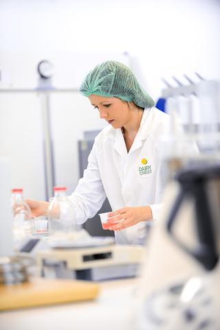 Sophie working at Dairy Crest