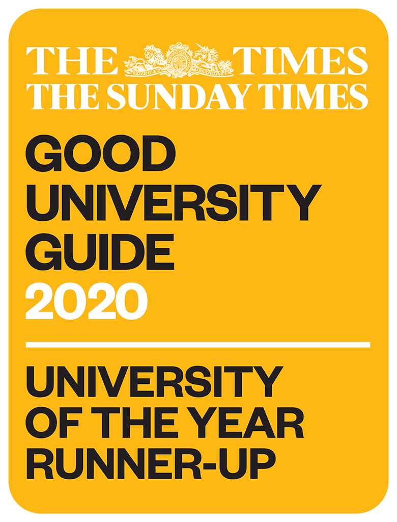 The Times and The Sunday Times University of the Year Runner Up award logo