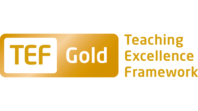 Teaching Excellence Framework (TEF) Gold Award logo