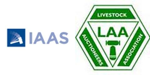 A livestock auction\IAAS and LAA logos