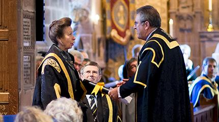 HRH The Princess Royal installed as first Harper Adams Chancellor (video)