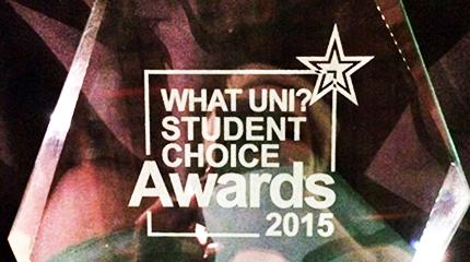 Top for student support, runner-up University of the Year in Student Choice Awards
