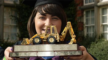 Graduation 2016 - Ellis Ward wins JCB Trophy