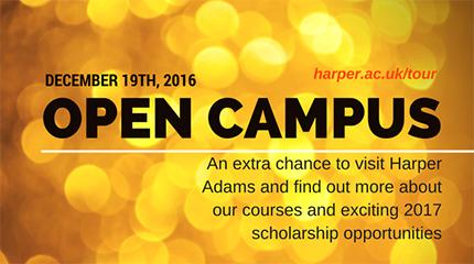 NEW: Open campus event - sign up now for December 19th