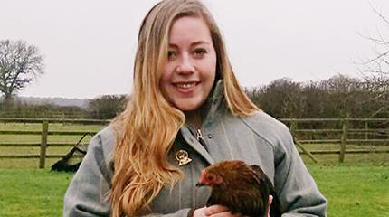 Faccenda scholarship helps Samatha develop passion for poultry