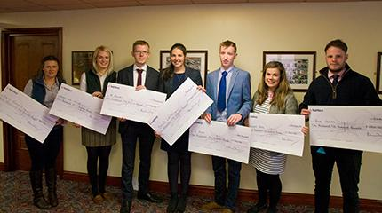 Harper Adams University students receive Staffordshire and Birmingham Agricultural Society Scholarships