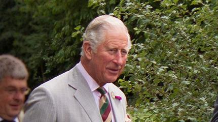 Flying visit by HRH The Prince of Wales