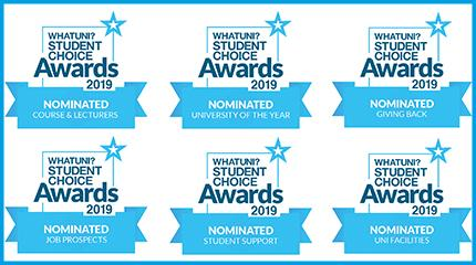 Harper shortlisted for six Whatuni Student Choice Awards