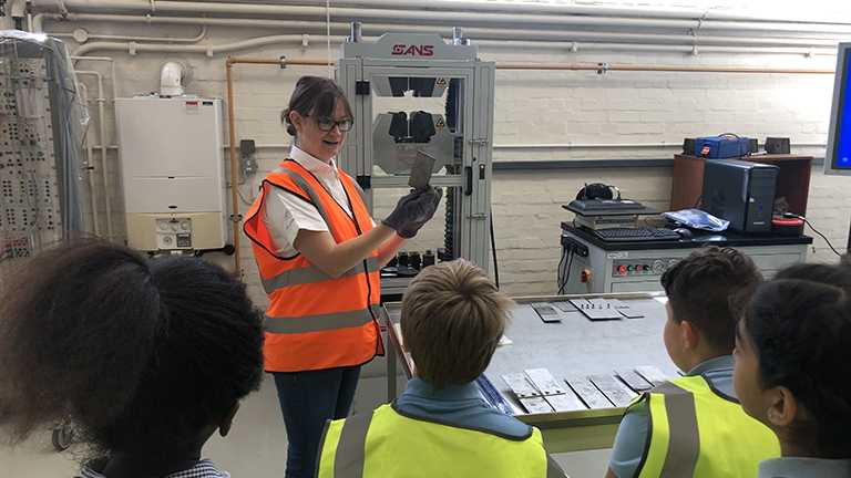 Engineering department hosts Telford school visit