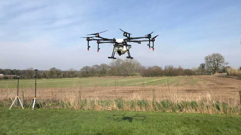 Could spray drones be used to tackle COVID-19 infection hotspots?
