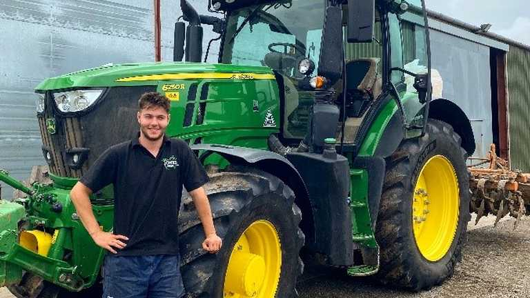 Agriculture with Mechanisation graduate, Lewys Jones, has been awarded the prestigious Harper Cymry/Royal Welsh Agricultural Society Student Award 2020.